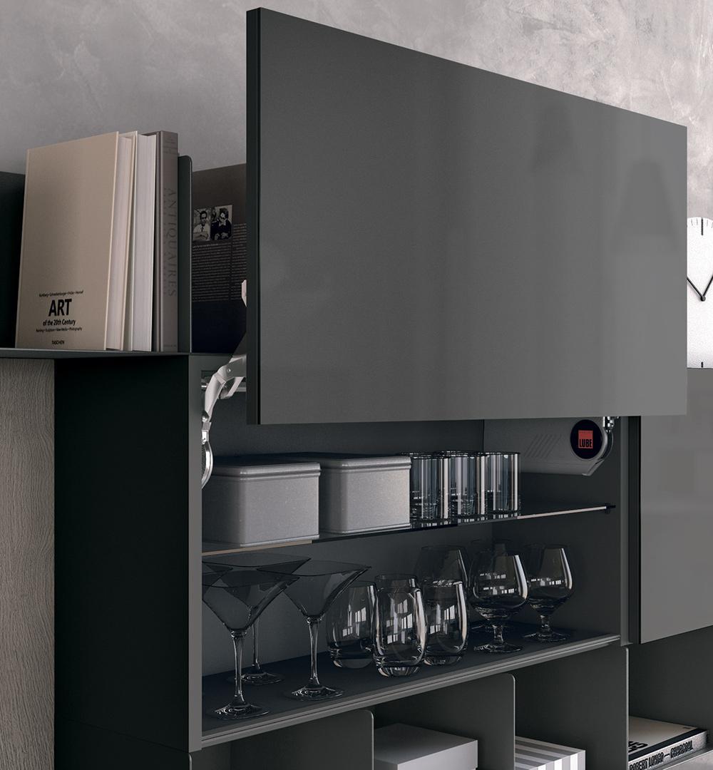 Cucine Moderne Con Ante Scorrevoli.Cucine Moderne Lube Modello Clover Perego Arredamenti