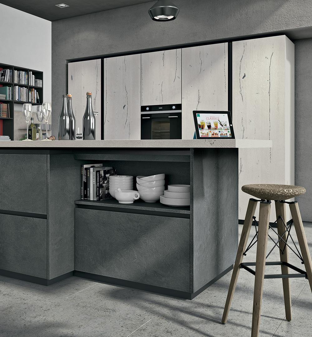 Cucine Moderne Lube Modello Oltre Neck Perego Arredamenti