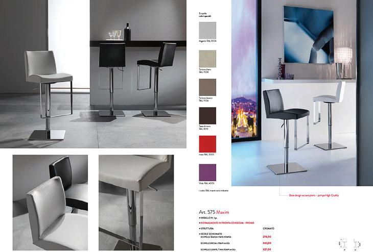 Sgabello Moderno : Sgabello moderno con seduta in plastica centro veneto del mobile