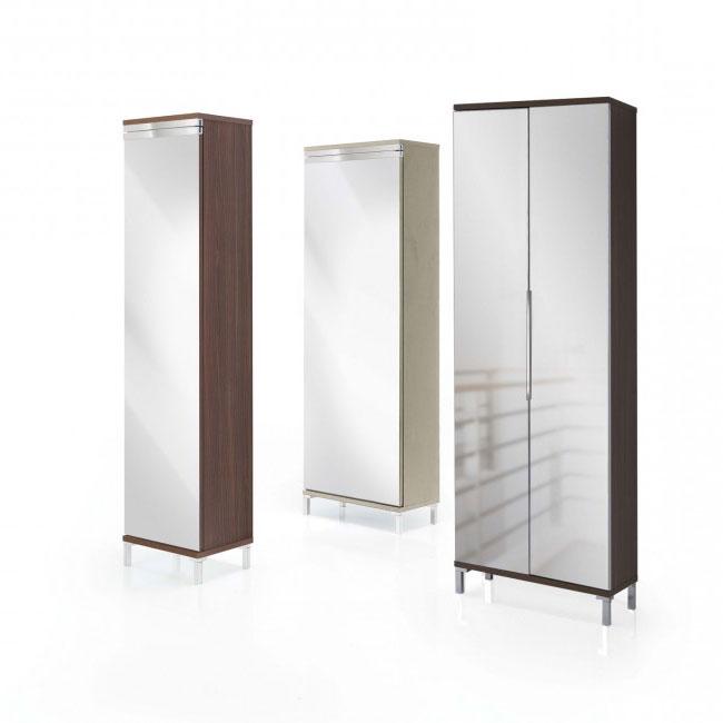 Scarpiera ante specchio evolution mirror perego arredamenti - Scarpiera con anta a specchio ikea ...