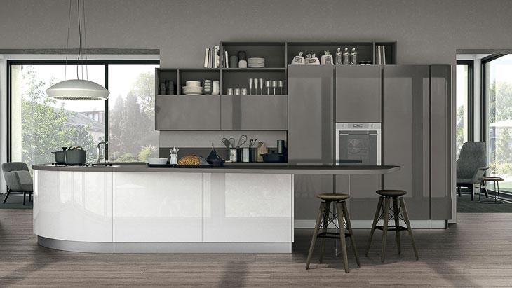 Cucine moderne lube modello clover perego arredamenti for Cucine living prezzi