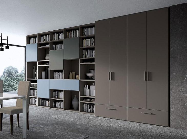 Armadio con libreria integrata Spagnol Mod. Vega | Perego ...