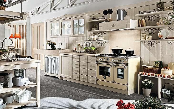 Cucina callesella in legno massello perego arredamenti - Cucina rustica economica ...