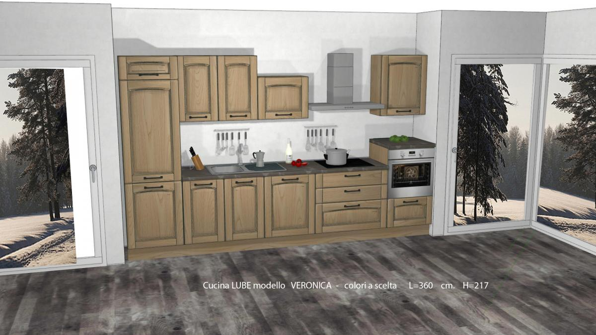 Promozioni cucine lube prezzi modello veronica perego - Misure basi cucina ...