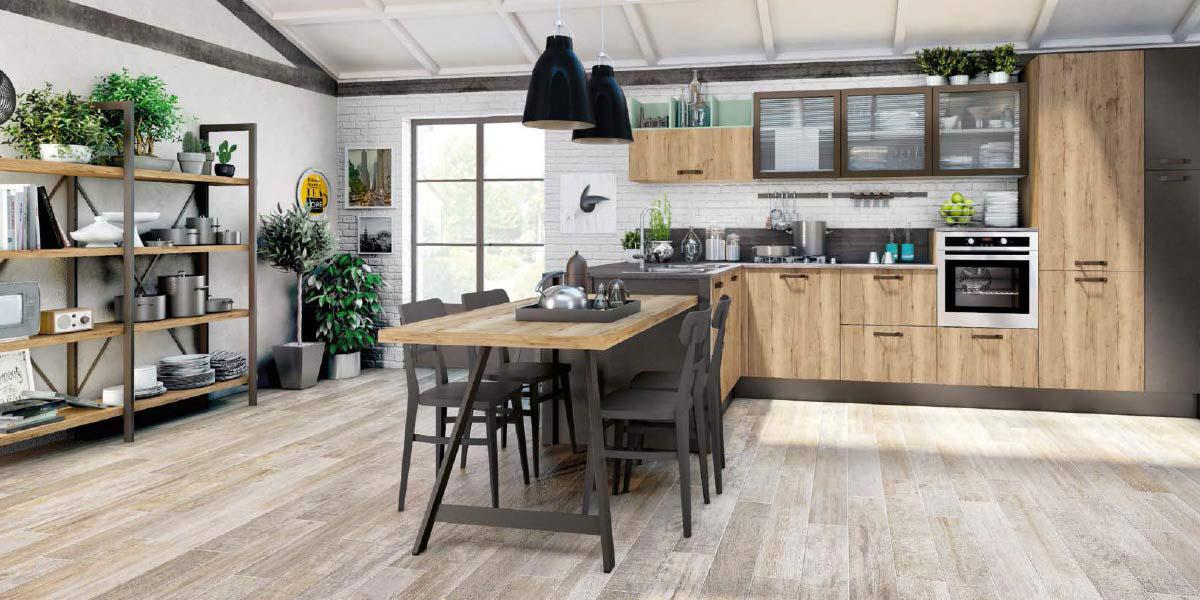 Promozioni » Cucina LUBE CREO prezzi modello KYRA | Perego Arredamenti